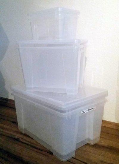Ordnung schaffen mit SAMLA-Kisten von IKEA