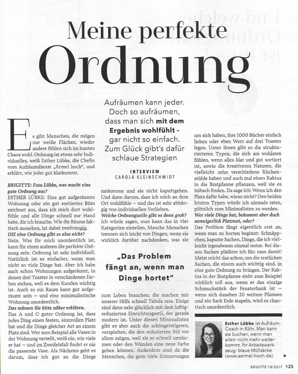 Brigitte Ausgabe brigitte ausgabe 18 2017 ärmel hoch